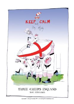 Three Cheers England - signed print
